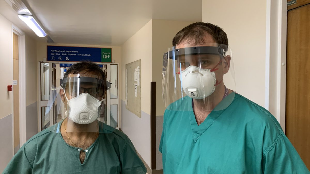 NHS staff wearing PPE