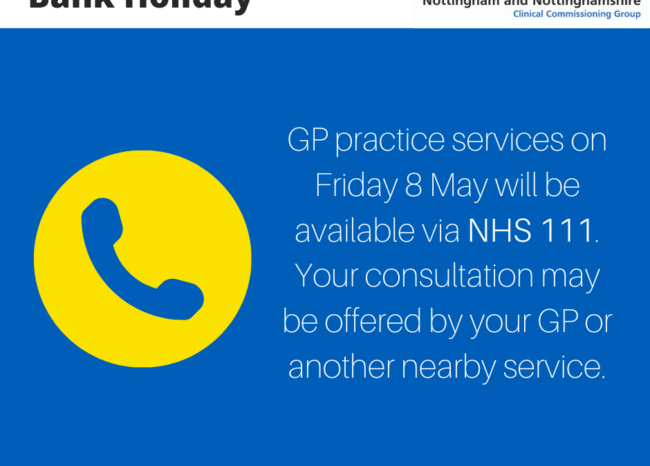Bank holiday GP services information