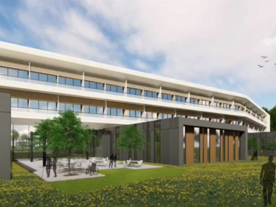 Mock-up image of the NHS Rehabilitation Centre