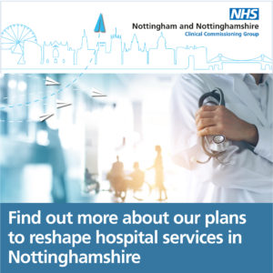 Reshaping Health Services in Nottinghamshire advertisement