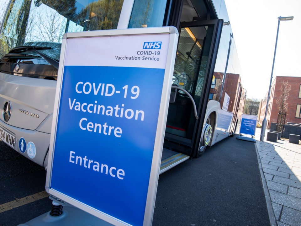A mobile vaccination bus is offering the Covid-19 vaccine to people in Nottingham to help drive uptake amongst eligible groups.