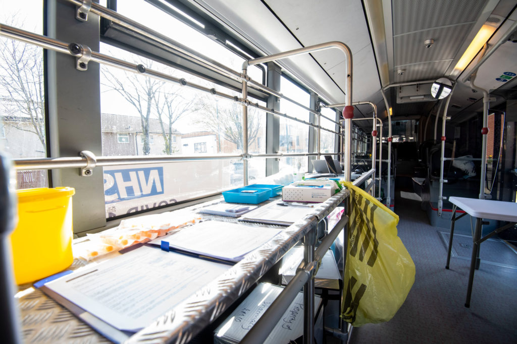 Inside the Covid-19 vaccination bus