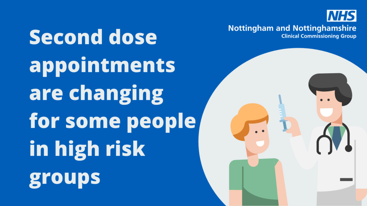 Some second dose appointments are changing